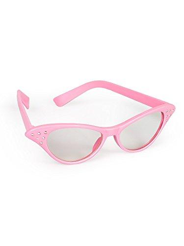 Forum Novelties Women's 50'S Rhinestone Glasses, Pink, Standard -