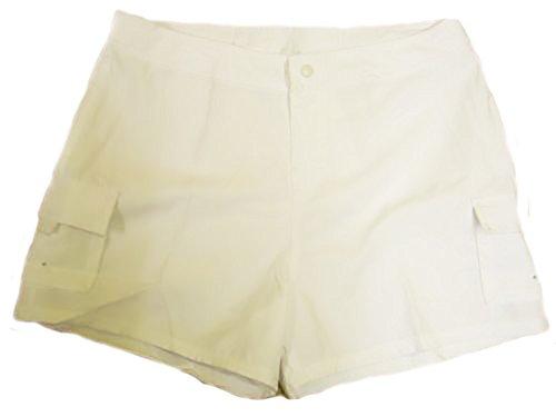 Missy de las mujeres pantalones cortos Blanco blanco Talla:XS - 8/10 Blanco - blanco
