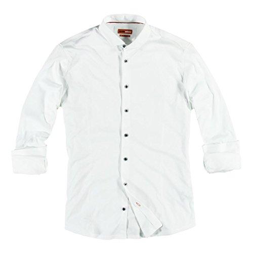 emilio adani Herren Jersey-Hemd, 23535, Weiß