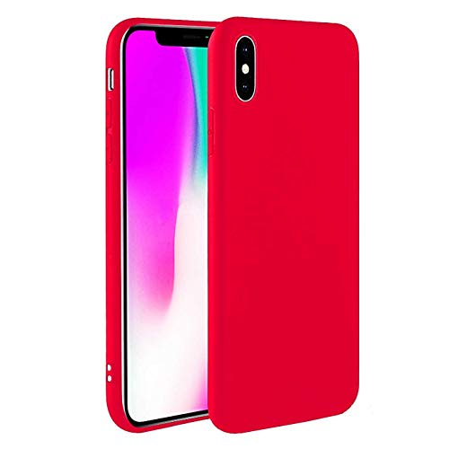 iBarbe Compatible with iPhone Xs Max Case,Slim Fit Ultra Thin Cover Anti-Scratch Anti-Fingerprint Protective Anti-Scratch TPU Cover Case for iPhone Xs Max 6.5 inch (2018 Release), Red