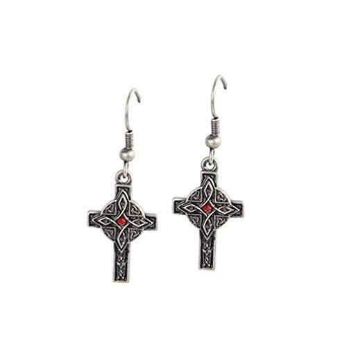 Ky & Co YesKela Celtic Cross Lead Free Alloy Pewter Earrings