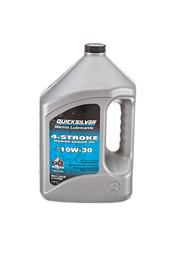 Quicksilver 8M0078617 4-Stroke Marine Engine Oil - for Outboard, Sterndrive & Inboard Engines - SAE 10W-30 Mineral - 1 Gallon