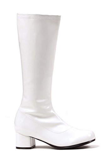 Girls White Go Go Boots Large (2-3)