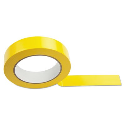 Floor Tape, 1'' x 36 yds, Yellow, Sold as 1 Each by Champion Sports (Image #1)