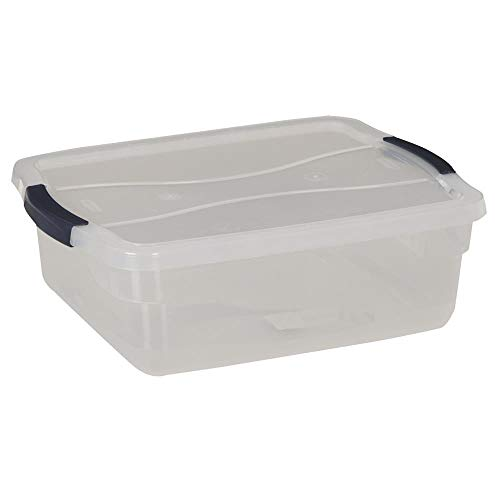 (Newell Rubbermaid Home 15Qt Clear Zone Latches 3Q2200CLMCB)
