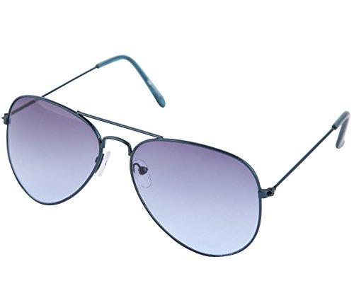 Gansta UV protective unisex aviator sunglasses – (GN-3002-Blu-Blu 58 Blue Lens)