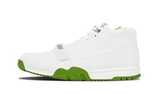Mens Air Trainer 1 Mid Sp / Frammento Bianco / clorofilla verde formato Pelle 8.5 bianco