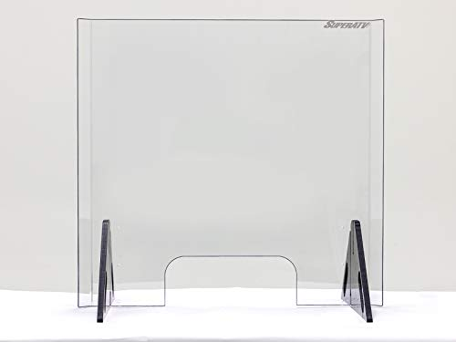 """Sneeze Guard Shield for Counter – 26″ Tall x 27.6″ Wide 