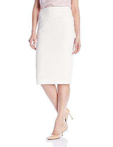 Kasper Women's Stretch Crepe Skimmer Skirt, Vanilla Ice, 8