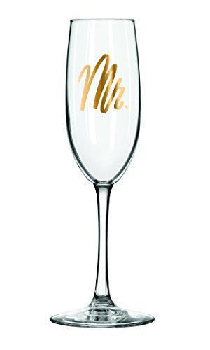 Easy, Tiger Champagne Flute with Foil, Gold