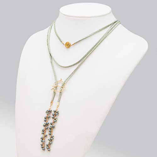 Abbott Collection 58-MYSTIK-NK-151 Mint Suede Triple Necklace-14 L Multicolor ()
