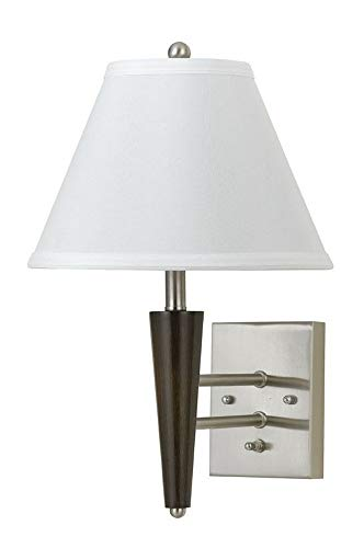 Cal Lighting LA-2025WL-1BW Transitional One Light 6W MTL Wall LAMP Collection in Pwt, Nckl, B/S, Slvr. Finish, 13.00 inches