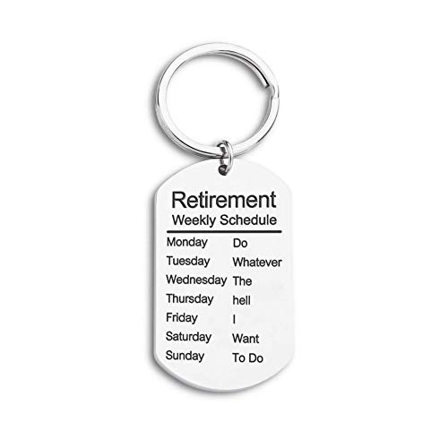 Retirement Gift for Coworker Personalized Keychain for Retiree Keepsake Happy Retirement Present for Men Good Bye Gift Ideas for Colleague Pendant Charm