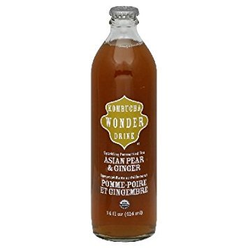 KOMBUCHA WONDER Organic Sparkling Asian Pear Ginger Tea, 14 OZ