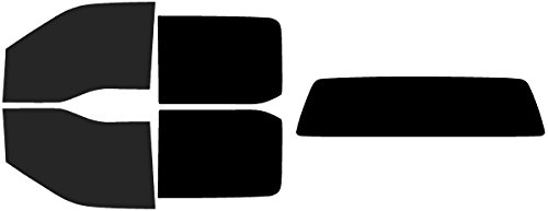 Rear Solid Full Door - Precut Window Tint Kit - Fits: 2017, 2018 & 2019 Ford F-250 F-350 Super Duty Crew Cab Truck (Full Truck Includes: 15% Front Doors / 5% Rear Doors and Solid Rear Windshield) Automotive Window Film