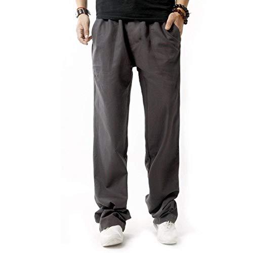 Lino Casual Da Pantaloni Battercake Uomo Slim Grau Sportivi Della Fit Leggero Di Comodo Tuta q1wRAp