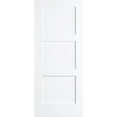 3-Panel Door, Kimberly Bay Interior Slab Shaker White 80 in. x 36 in.