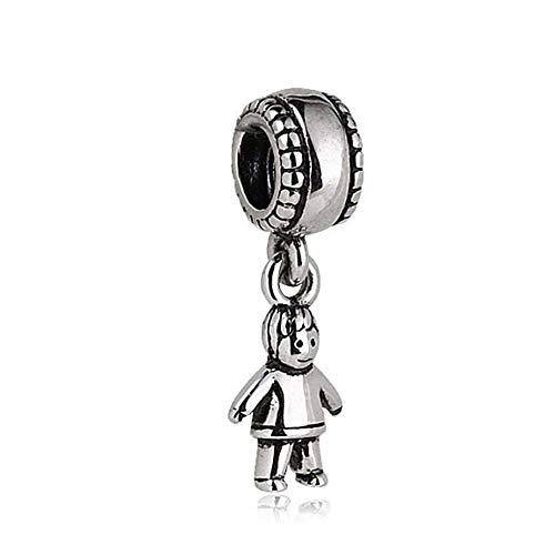 Little Boy Dangle Charm 925 Sterling Silver Kid Beads fit for DIY Charms Bracelets