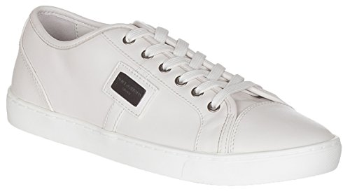 Dolce & Gabbana Men's Beige Leather CS0930 Sneakers Shoes, Beige, 11.5