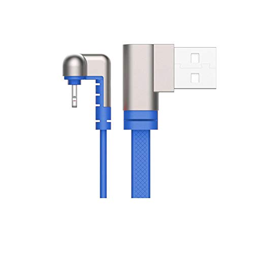 Eachbid Upgraded 180 Degree Elbow Phone Charge Cable,Data Cable 2.1A Fast Charging Cord Compatible for Type C,Blue 1.2M