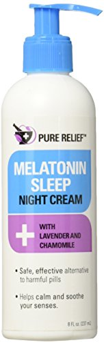 Pure Relief Melatonin Sleep Cream Night Cream To Help You Fall Asleep