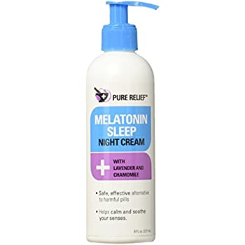 Pure Relief Melatonin Sleep Cream. Night cream to help you fall asleep.