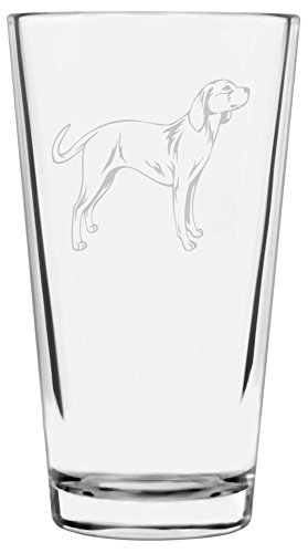 (Billy Dog Themed Etched All Purpose 16oz Libbey Pint Glass)
