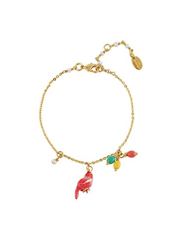 Canary Bird Charm - Les Néréides Lovely Canaries Coral Bird and Charms Bracelet - Pink