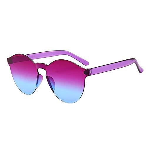 AMOFINY Fashion Glasses Women Men Fashion Clear Retro Sunglasses Outdoor Frameless Eyewear ()