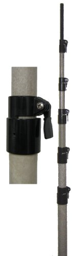 MFJ-1908HD 50ft Super Strong Heavy Duty Telescoping Fiberglass Mast with QuickClamps