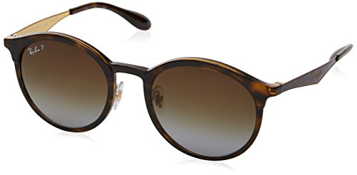 Ray-Ban Emma Polarized Iridium Round Sunglasses, Light Havana, 51 - Round Ban Ray Polarized Sunglasses