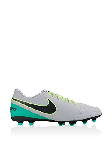 Nike Jr Tiempo Rio Iii Fg, Botas de Fútbol para Niños Gris (Wolf Grey / Black-Clear Jade)
