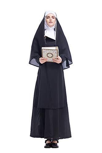 Cuteshower Women's Nun Costume Cosplay Costumes