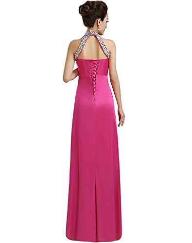 Formale Halter Korsett Erosebridal mit Lange Rose Abendkleider Red Perlen tPZwp