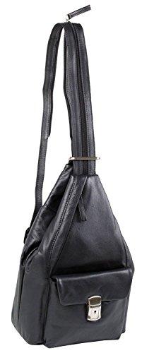 stonebear original - Bolso mochila  para mujer negro negro