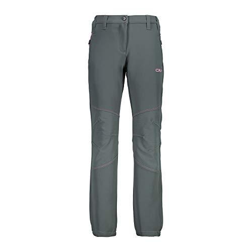 CMP Pantalon Fonctionnel Pantalons de Randonnée Fille Long Pantalon Vert Respirant