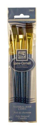 Loew-Cornell 2045 Brush Set, Natural Hair, Camel