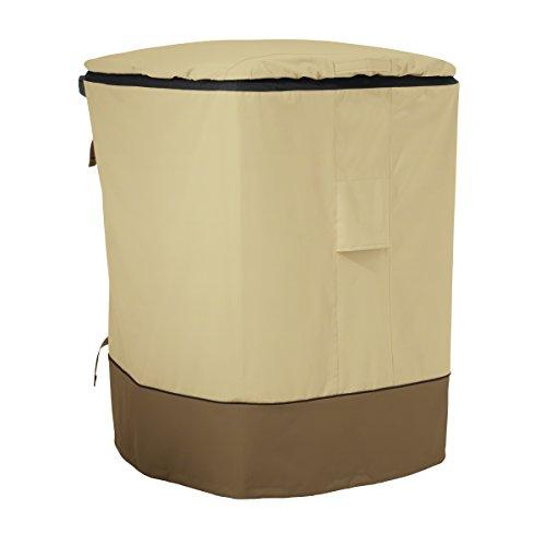 Classic Accessories 55-785-011501-00 Veranda 96-Gallon Rolling Trash Cart ()