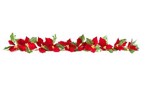 Cordless Poinsettia Measures Christmas Decoration
