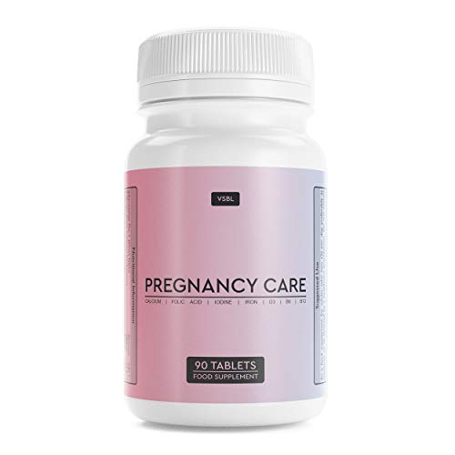 VSBL Pregnancy Care Multivitamin Tablets for Women – 90-Pcs Iron Tablets with Folic Acid – No Sweeteners or Artificial…