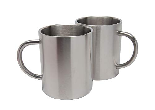 2 Pack Stainless Steel 15 Oz Double Walled Camping Cups 100% BPA Free Metal Mugs Outdoor Camp Cookware Military Surplus BBQ Hunting Accessories Bar BQ 4 Inch by Xena Intelligent Security (Image #6)