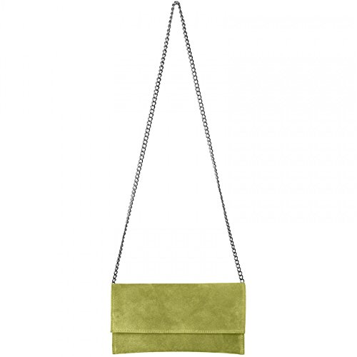 Olive TL702 CASPAR CASPAR Leather TL702 Clutch Green Women Suede 6qPwxa