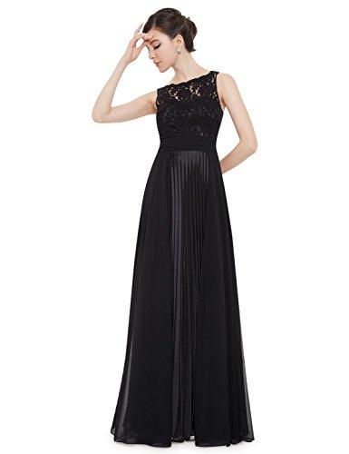 Ever Pretty Womens Long Sleeveless Formal Military Ball Dress 8 US Black