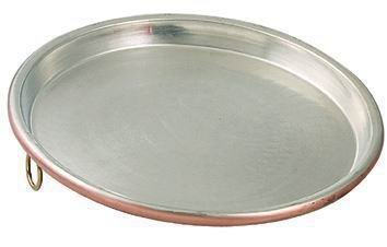 ITALY PROFESSIONAL TINNED COPPER PIZZA PAN CM 34