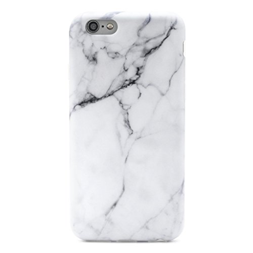 GOLINK iPhone 6 Plus Case Slim-Fit Ultra-Thin Anti-Scratch Shock Proof Dust Proof Anti-Finger Print TPU Case for iPhone 6/6S Plus(5.5 inch) - White Marble
