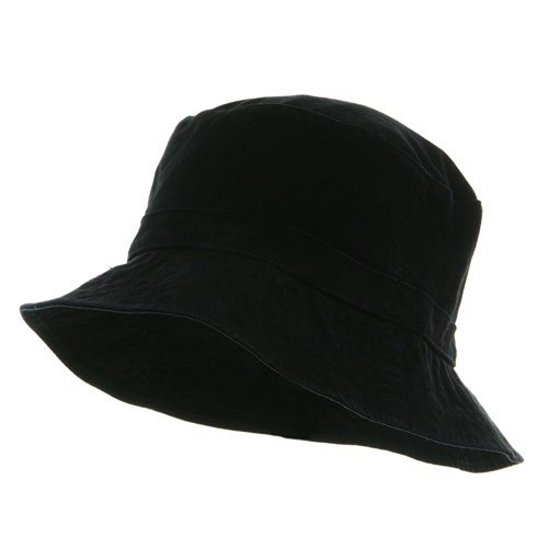 Decky Cotton Bucket Hat - Black Extra Large