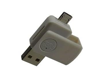 KRS A2 blanco - lector de tarjetas USB OTG Micro duo: Amazon.es ...