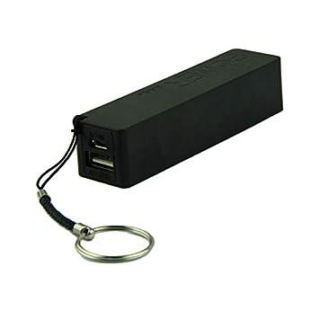 Junshion - Cargador de batería con Llavero USB 18650, Negro ...