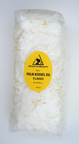 Palm Kernel Oil Flakes Organic Pure Natural for Soaps Cosmetics 16 oz, 1 LB