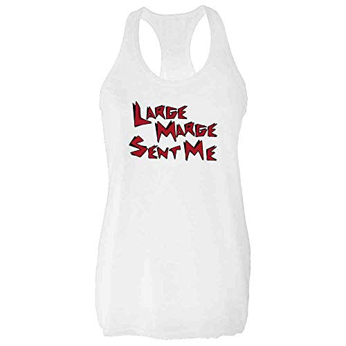 Pop Threads Large Marge Sent Me Funny Retro White S Fashion Tank Top Tee for Women
